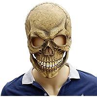 HZJA Látex Máscara Halloween Aliens Terror Fantasma Bar Prom Up Props Biochemical Zombie Esqueleto Fantasma Máscara Caps,A