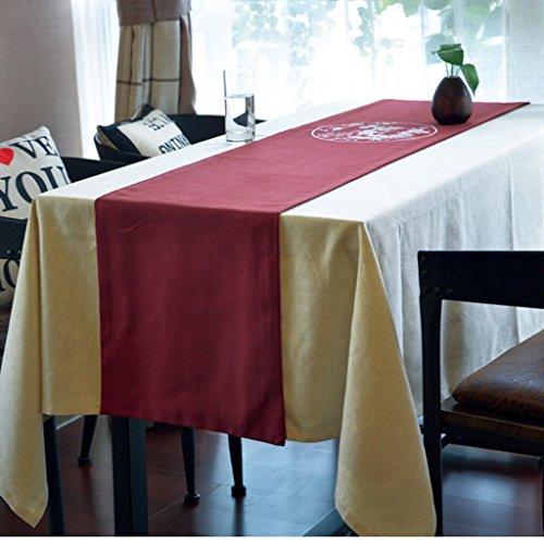 QiangZi Chemin De Table Linge Chinois Rouge Plum Blossom Table Tissu Partie De Mariage Anniversaire Maison Noël Vaisselle, 35 * 220 CM ( taille : 35*260CM )