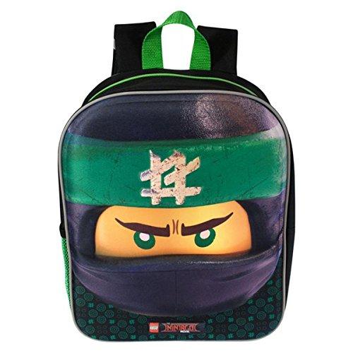 Style It Up ,  Kinderrucksack, Lego Ninjago - Green Ninja (3D - Lloyd) (Schwarz) - LEGO-NINJAGO-BACK-PACKS Ninja Lego Rucksack