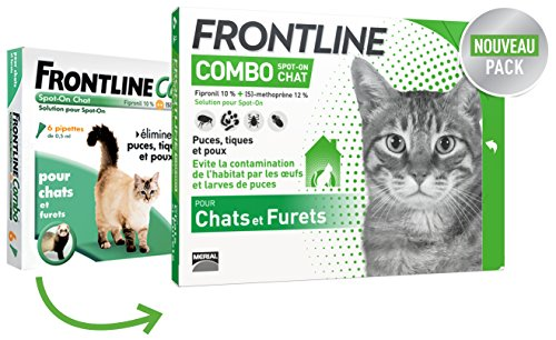 FRONTLINE Combo Chat - Anti-puces anti-tiques chat - 6 pipettes