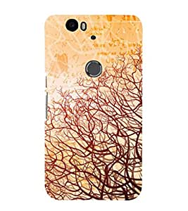 printtech Abstract Vines Design Back Case Cover for Huawei Google Nexus 6P