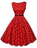 Disegni floreali Retro vestiti di swing dell'annata per il partito di promenade della sfera Polka Dot Formato M CL6086-7
