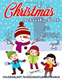 Activity Book for Kids Ages 4-8: Christmas Activity Book For Hours Of Fun Entertainme...