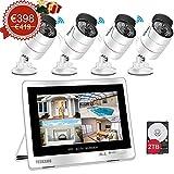 YESKAMO Überwachungskamera Set Außen Kabellos mit 4 x 1080P WLAN WiFi Kameras 12