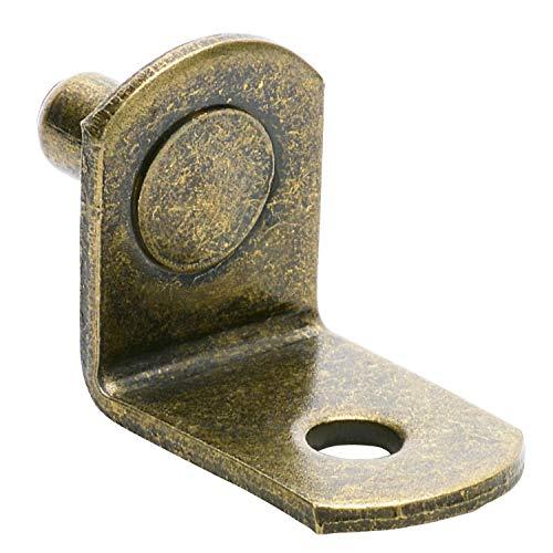 SS-5mm L-förmige Halterung Loch-Antik Messing 25 -