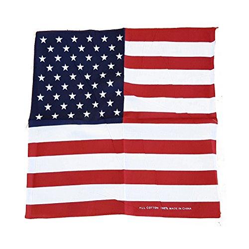 st Unabhängigkeitstag 2017! USA Stars & Stripes Bandana. 57,1x 57,1cm ca. 57cm x 57cm Bandana./Bandana./pañuelo. Polyester zum Feiern des amerikanischen Erbes! Patrimoine! / Erbe! / Eredità! / Patrimonio! (Bar Themen-halloween-kostüme)