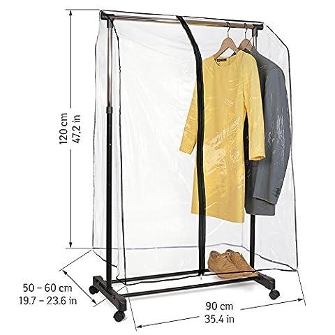 Tatkraft Smart Cover Abdeckhaube für Kleiderständer Transparente Reißverschluss 90X118X53cm (Schutzhülle Für Kleiderständer)