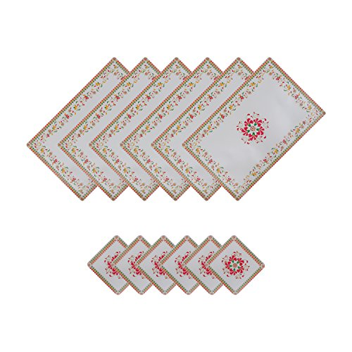 Dream Care Pvc Dining Table Mats, Printed Placemats With Coasters, Size:44X29 Cm,...