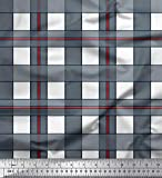 Soimoi Weiß Seide Stoff prüfen prufen Stoff Drucke Meter