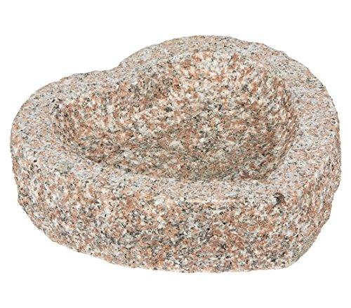 Dehner Deko Herz, ca. 30 x 30 x 10 cm, Granit, grau/braun