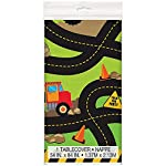 Wow Construction Party Plastic Tablecloth, 7ft x 4.5ft