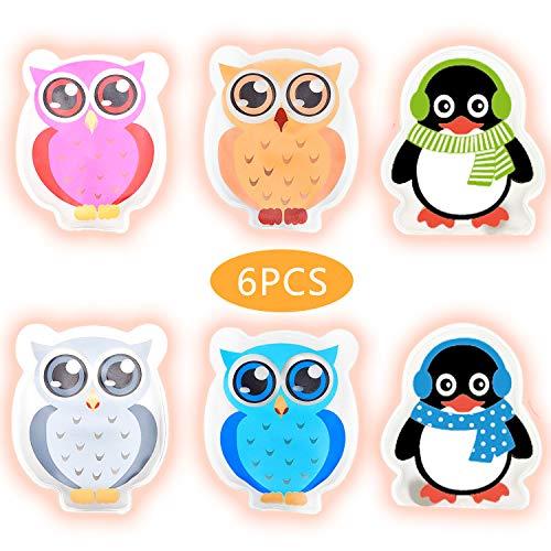 Hook Taschenwärmer handwaermer Kinder handwärmer wiederverwendbar zum knicken 4er-Set Colorful Eule und 2er-Set Penguins Handtaschenwärmer Wärmeknickkissen Heizpad' (Blau)