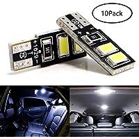 Grandview T10 501 Bombillas LED W5W 194 168 Bombillas LED blancas 4-SMD 5730 Bombillas LED brillantes con cuña perfectas para el interior del automóvil, tablero de instrumentos, matrícula, luces de arranque Bombillas