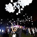LED Leuchtende Weiß Luftballons 32 Stück Gemischte Farbe für Hochzeitsfest Weihnachten Geburtstag (32PCS)