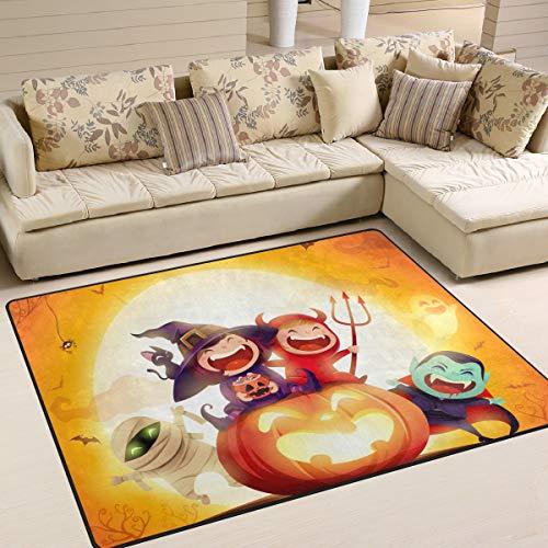 JSTEL INGBAGS Super weicher, moderner Halloween-Kostüm für Kinder, Wohnzimmer, Teppich, Schlafzimmer, Teppich für Kinder, zum Spielen und Dekorieren, Bodenteppich und Teppiche, 160 x 122 cm