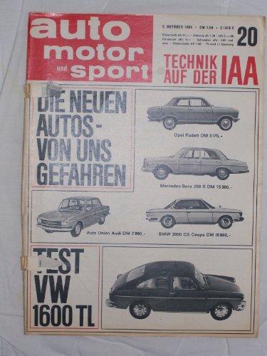 auto motor sport, IAA - Heft 1965