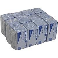 WYPALL* L20 Extra Paños Interplegados 7315 - 12 paquetes x 74 paños de color azul y 2 capas