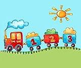 De los niños A3mantel individual, salvamanteles, alfombrilla de PVC, tren