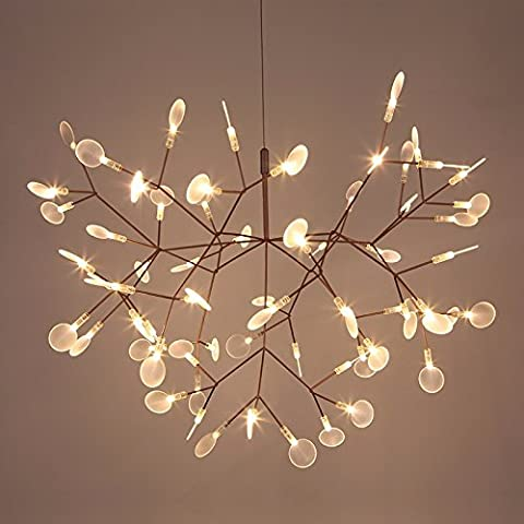 Modern Chandelier Ceiling Light The post-modern restaurant lamps container leaves firefly light bedroom cafe led artistic creativity living room with chandeliers and container-pearl 51CM30
