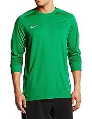 Nike Long Sleeve Camiseta, Hombre, Verde / Blanco (Pine Green / White), XL