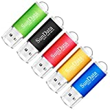 SunData USB Stick 5 Stück 16GB USB-Sticks USB 2.0 Speicherstick Flash Laufwerk (5 Mischfarben: Schwarz, Blau, grün, Rot, Gold)