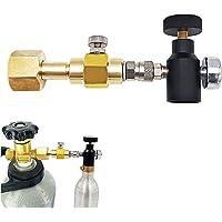 Adaptateur de remplissage TR21-4/W21.8-14 de Cylindre de CO2 Connecteur de Bouteille Double Valve DIN477 avec Valve ASA…