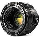 YONGNUO YN50mm F1.8 Objectif Grand Aperture Auto Focus Compact pour Nikon + WINGONEER Diffuseur de Flash