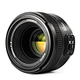 YONGNUO YN50mm F1.8 Lens Large Aperture Auto Focus Compact Lens for Nikon Camera with WINGONEER Flash Diffuser