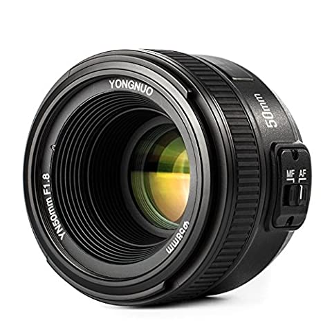 YONGNUO YN50mm F1.8 Lens Large Aperture Auto Focus Compact Lens with WINGONEER Flash Diffuser for Nikon Camera D5 D4S DF D3X D810A D810 D800 D800E D750 D610 D500 D7200 D7100 D7000 D5500 D5300 D5200 D3300