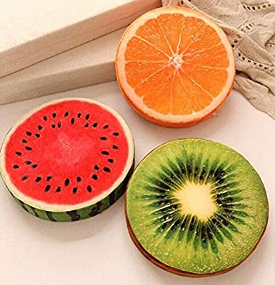 Safeinu Creative 3 d Fruit Cushion for Leaning on of Personality Watermelon Plush Toys Kiwi Pillows on The Couch Pillow A Birthday Present