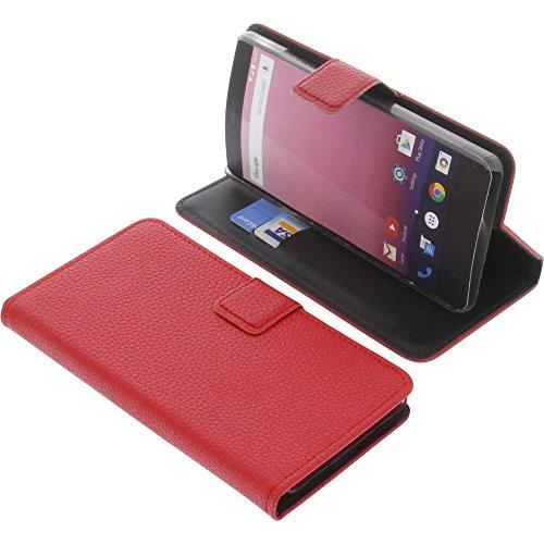 foto-kontor Tasche für Vernee Thor E Book Style rot Kreditkarte Schutz Hülle Buch