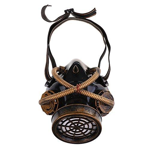 Gazechimp Maske Steampunk Kopfmaske Kostüm Zubehör für Erwachsene Halloween Party Fasching...