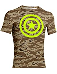Camiseta de compresión de manga corta Under Armour Alter Ego - Saddle 257 (X-Large)