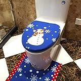Disfraz Muñeco de nieve muñeco de nieve de Navidad decoración de Navidad tapa de inodoro, yoyoug tapa solo para tapa de inodoro