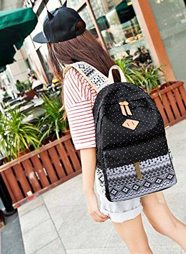 Imagen de backpack  escolares,mujer  escolar lona grande bolsa estilo étnico vendimia casual colegio bolso para chicas alternativa