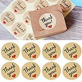 jhtceu 120 x Dankeskarten aus Papier, zum Versiegeln von Hochzeiten, Gastgeschenke, Briefmarken, Geschenketiketten