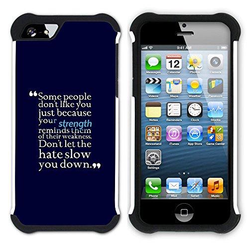 Graphic4You Hello? Englisch Zitat Nachricht Hart + Weiche Kratzfeste Hülle Case Schale Tasche Schutzhülle für Apple iPhone SE / 5 / 5S Design #10