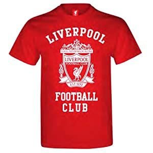Official LIVERPOOL FC red logo t-shirt large size by RED AMOS 10 COLLECTIBLES/LIVERPOOL FC