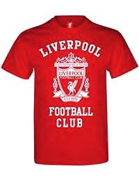 Official LIVERPOOL FC big crest red t-shirt size medium
