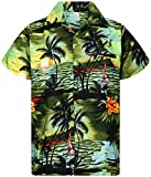 V.H.O. Funky Hawaiian Shirt, Surf, Verde Scuro, S