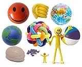 Sensorisches Spielzeug | Ultimate Taktile Kit von stresscheck (10 Artikel) | Stress Bälle biegsam, Herren, Rainbow Orbit Ball, dehnbar, Man, echte – Sensory – Fiddle Toys geben Relief aus Stress