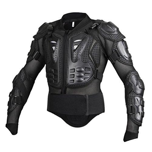 ahren Reiten Full Body Armor Rüstung Protector Professionelle Street Motocross Guard Shirt Jacke mit Rückenschutz Schwarz 4XL ()