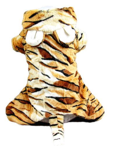 Evergreens Weich Gelb Tiger King Pet Hunde Cosplay Coat s