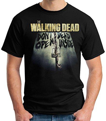 35mm - Camiseta Niño - The Walking Dead Dont Open Dead Inside - T-Shirt, NEGRA, 11/12 años