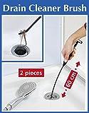 Packung mit 2 extra langen (60 cm), flexiblen Überlauf-Bürsten  für Spülbecken und Abflüsse