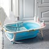 Bañeras con Jacuzzi Bebé Plegable Baby Shower Ducha Grande para niños Productos universales para recién Nacidos (Color : Blue)