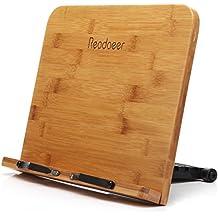 Readaeer --Soporte de libro para lectura, Bambú Natural, Perfecto elige para los