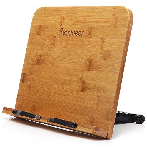 Readaeer --Soporte de libro para lectura, Bambú Natural, Perfecto elige para...