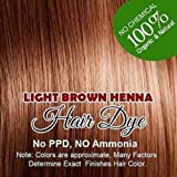 LIGHT BROWN color Henna hair: 100% Organic and Chemical Free Henna for Hair Color Hair Care 60 g. Amazon