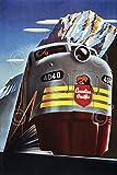 Canadian Pacific Railroad von Vintage Poster Zug Kanada Poster (wählen Sie Größe von Drucken), 61x91.4 Print